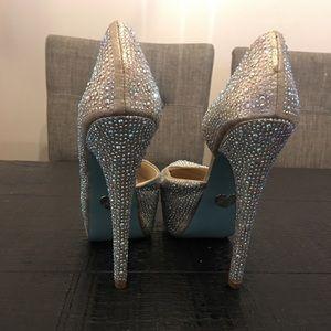 Blue by Betsey Johnson Champagne platform heels